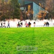 广场喷雾景