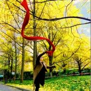 舞蹈红围巾